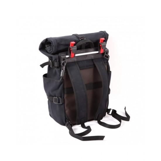 Gilles Berthoud Roll Top Backpack Pannier - All Black